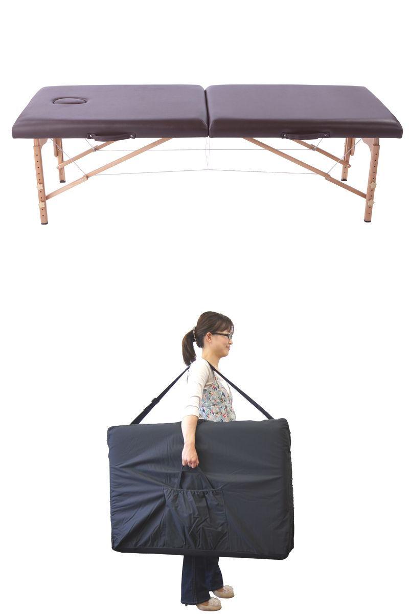 激安&軽量タイプが新登場!軽量木製折りたたみベッド (専用キャリーバッグ付)出張エステ/マッサージに!