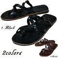 ララクラシコ メンズ レザーサンダル ブラック ブラウン LaLa Clasico Men's Leather Sandal 【本革】