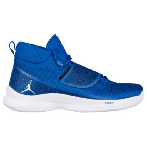 san francisco ef9ec 2aa0a Jordan men basketball shoes super fly blue Jordan Men s Super.Fly 5 PO Team  Royal Metallic Silver White