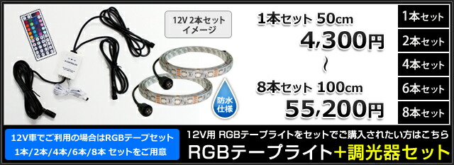 12V RGBテープライトシリーズ