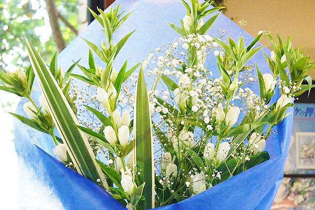 リンドウ花束