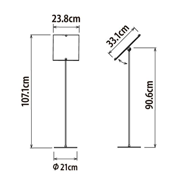 はさみ込み式POPスタンド/A4寸法