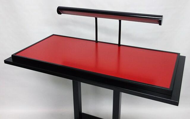 照明入りサンプルケース(L)テーブル写真