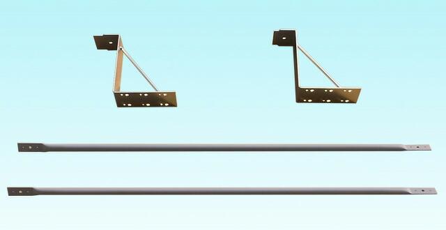 角型アルミ枠突き出し看板(LL)付属金具