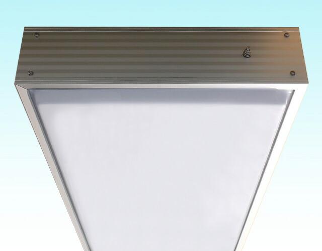 角型アルミ枠突き出し看板(LL)上部拡大