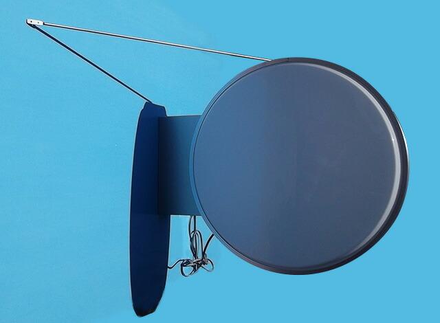 LED丸型突出し看板/直径:60cm振れ止め棒設置