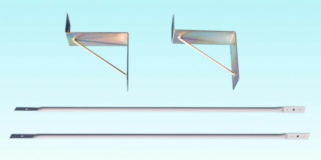 アルミ枠突き出し看板(角型)/タテ127cm×ヨコ45cm付属金具