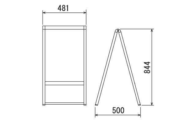 白黒A型スタンド看板(SS)サイズ