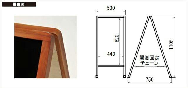 マーカースタンド看板(L)構造