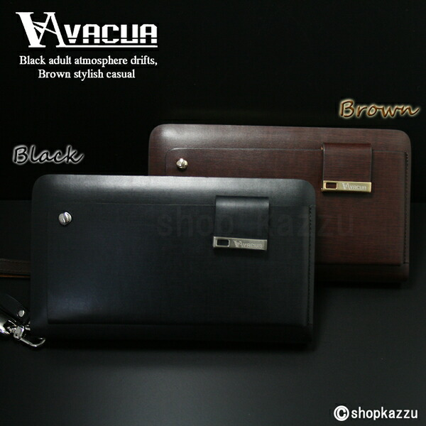 ラウンド長財布 メンズ スペインレザー 牛革 多機能 セカンドバッグ VACUA(2色)【VA-003】イメージ写真11