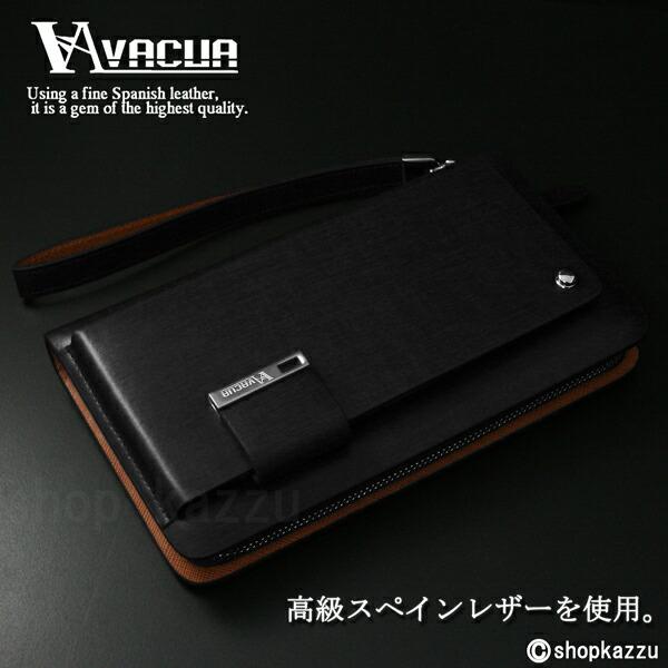 ラウンド長財布 メンズ スペインレザー 牛革 多機能 セカンドバッグ VACUA(2色)【VA-003】イメージ写真6