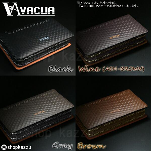 セカンドバッグ メンズ スペインレザー 牛床革 メッシュ ダブルファスナー VACUA (4色)【VA-004】イメージ写真11