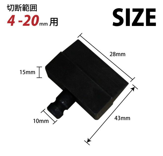 手動油圧式鉄筋カッターRC-20 替え刃セット