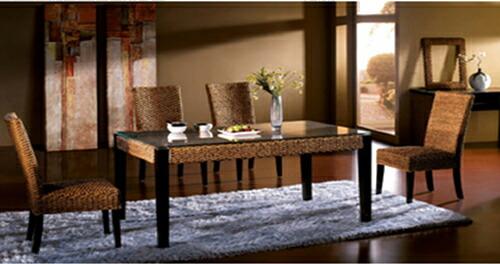 テーブル&チェア4脚セット♪心安らぐアジアンテイスト♪