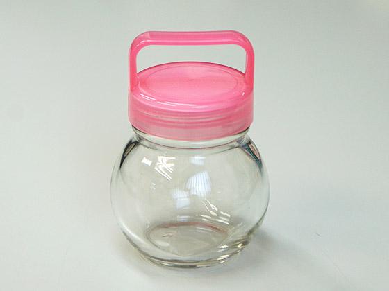 ガラス瓶 丸あめガラス栓付