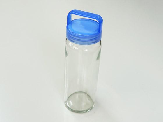 ガラス瓶 L200 取っ手のついたブルーキャップ付