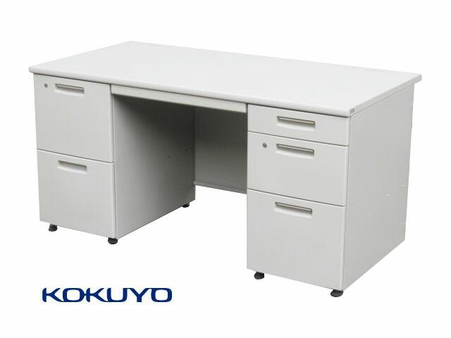 【中古品】コクヨ BS+ 両袖デスク W1400 鍵付 在庫有 中古オフィス家具