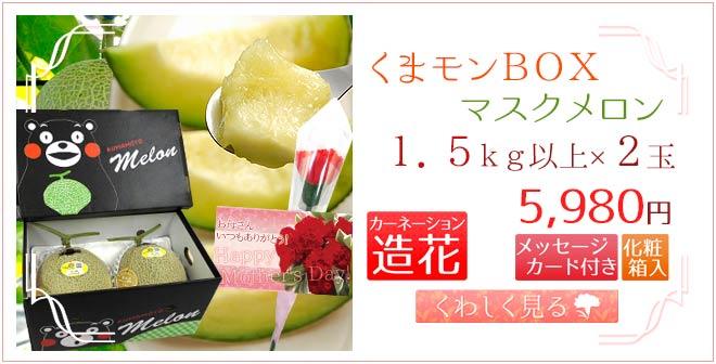 くまモンメロン2玉&造花