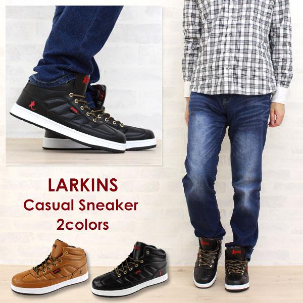スニーカーハイカットメンズ靴LARKINSL,6070Bラーキンス