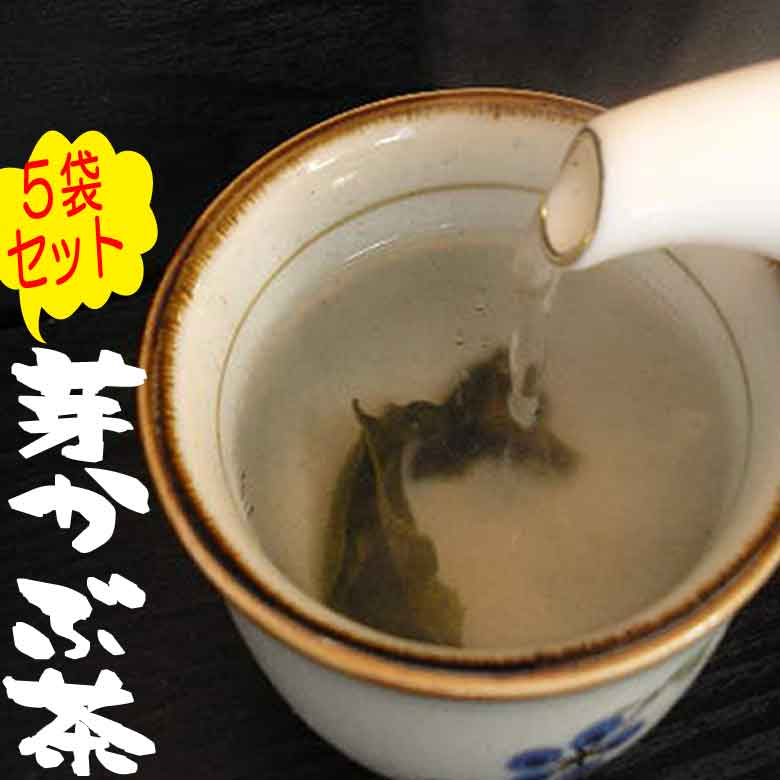めかぶ茶でホッと一息