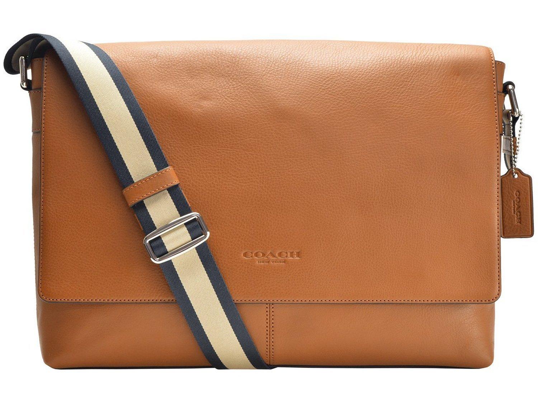 Coach Men S Messenger Bag Saddle Light Brown Sullivan Leather Capdase