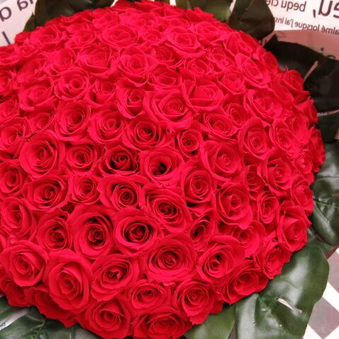 プリザーブドフラワー 赤バラ 花束