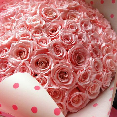 プリザーブドフラワー ピンクバラ 花束