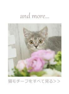 猫モチーフトップ