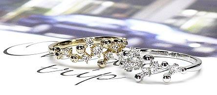 k18ホワイトゴールドダイヤモンドペンダント