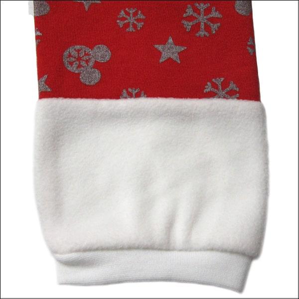 クリスマス サンタ風 なりきり ワンピース 80cm 90cm 95cm 100cm 110cm 120cm 130cm 01ボーダー 12雪の結晶 332109046 Disney ディズニー