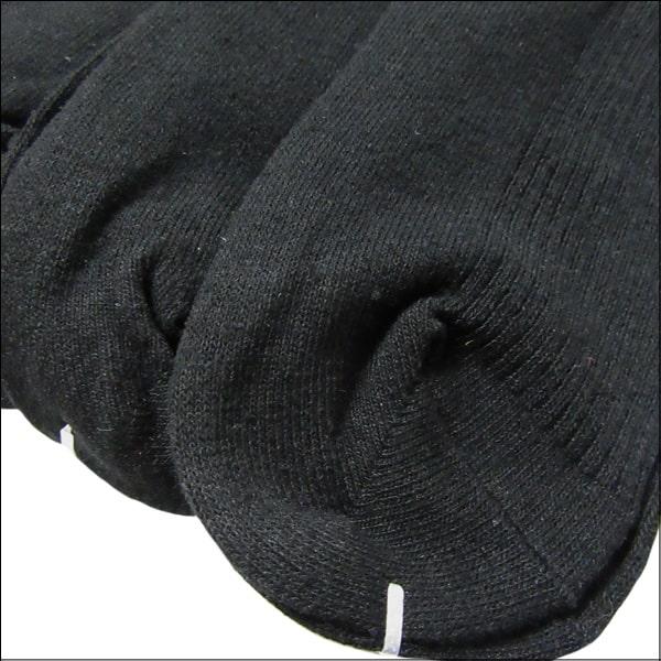 靴下 レディース 毛混 リブ ハイソックス 5足組 23〜25cm 黒 set0556
