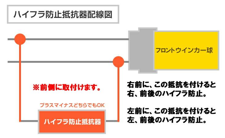 ハイフラ防止抵抗2個セット【ハイフラ防止抵抗・LED化・自作】【送料無料】