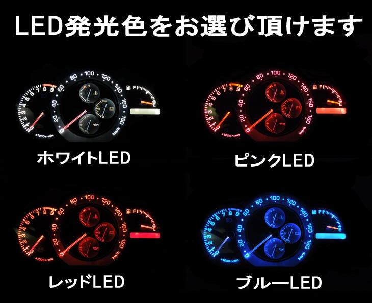 LEDのカラーはホワイト、ブルー、レッド、ピンクから