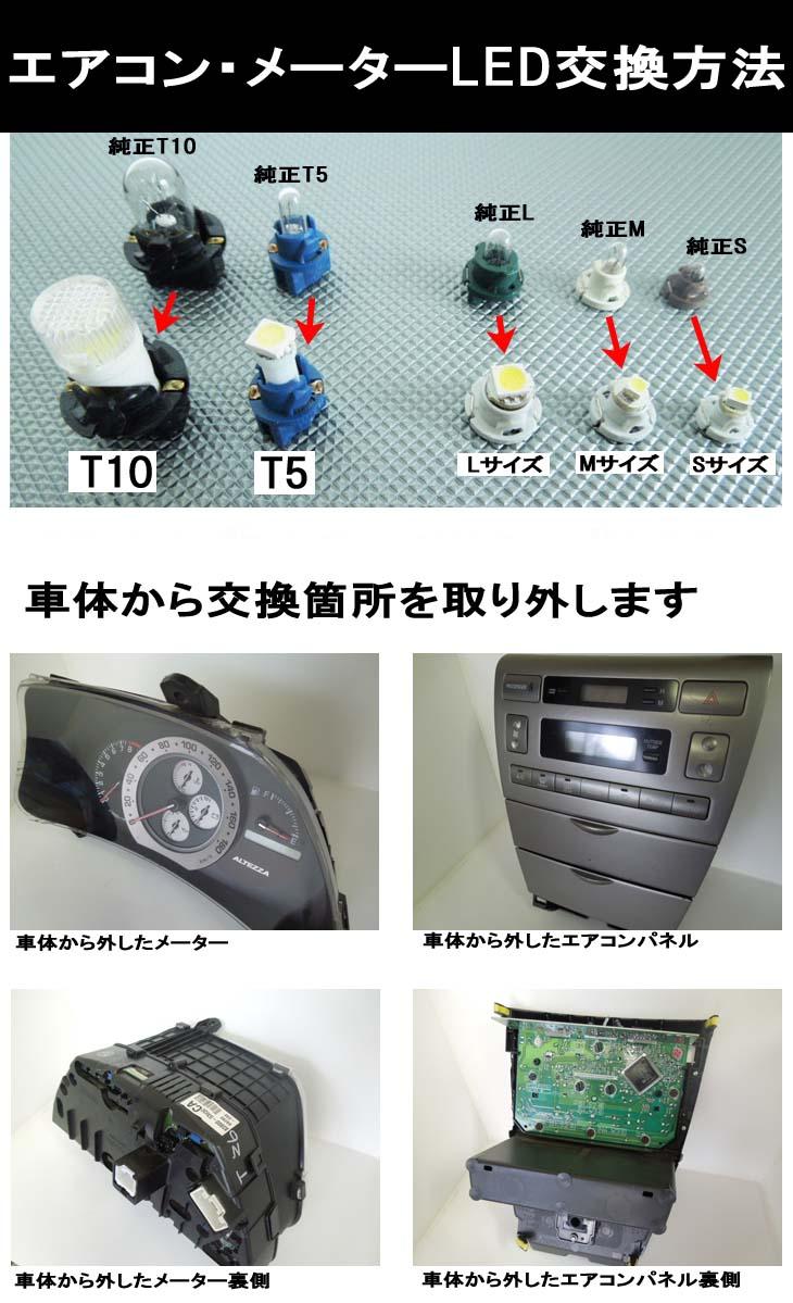 エアコン・メーターLEDの交換方法