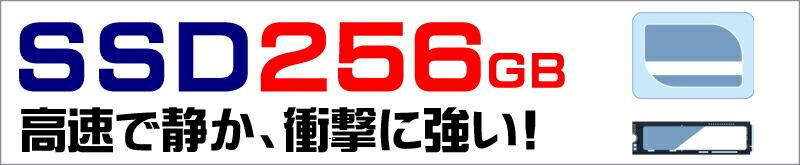 ストレージ★256GB(高速SSD)