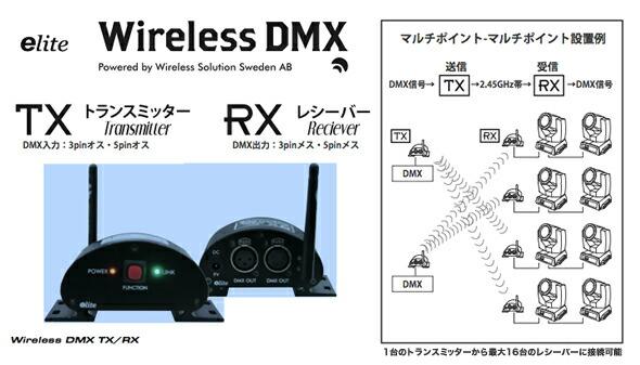 e-lite Wireless DMX レシーバー トランスミッター 販売 価格