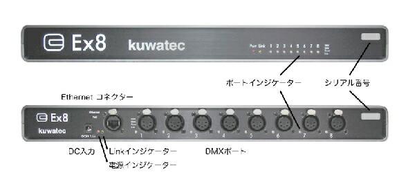 EX-8 ETHERMX KUWATEC 舞台照明 DMX