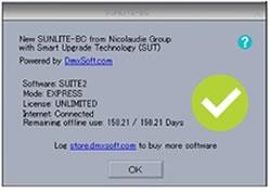 sunlite サンライト SUNLITE-BC SUITE2 SUITE3 nicolaudie ニコラウディ DMX インターフェイス ソフトウェア 販売 価格