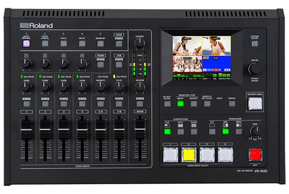 ROLAND VR-4HD オールインワン HD AVミキサー ビデオ・スイッチャ デジタル・オーディオ・ミキサ タッチ・モニター USBビデオ・キャプチャー・ボックス 価格 販売