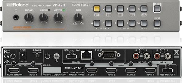 ROLAND VP-42H マトリックス・スイッチャー  会議 AV機器 価格 ビデオ・プロセッサー ビデオスイッチャー 販売 価格 PA機器 舞台照明