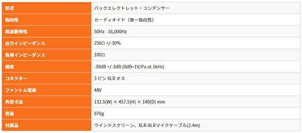 TASCAM TM95GN グーズネック 価格