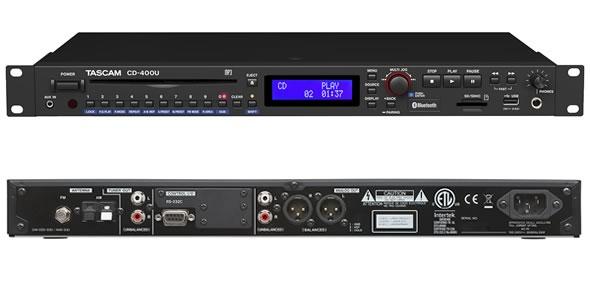 タスカム TASCAM マルチプレイヤー CD-400U Bluetooth  AM・FMチューナー USB SD CDプレーヤー 販売 価格 音響機器 舞台照明