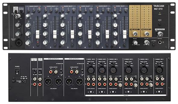 タスカム TASCAM  MZ-372 ミキサー 業務用ミキサー 販売 価格 PA機器 音響機器 舞台照明
