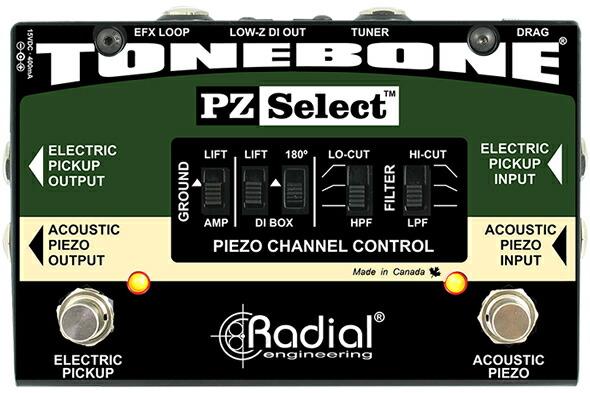 RADIAL PZ-Select ピエゾ エレクトリックPUセレクター DIボックス ラジアル 価格 販売