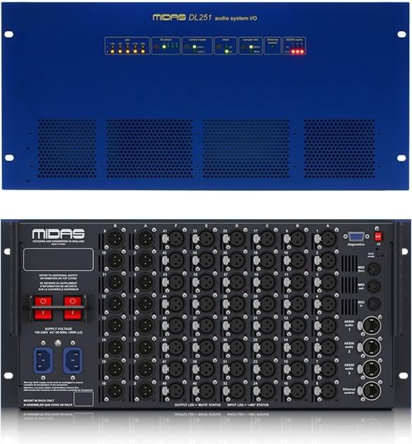 MIDAS マイダス DL251  IOユニット ステージボックス  PAミキサー デジタルミキサー 特価 販売