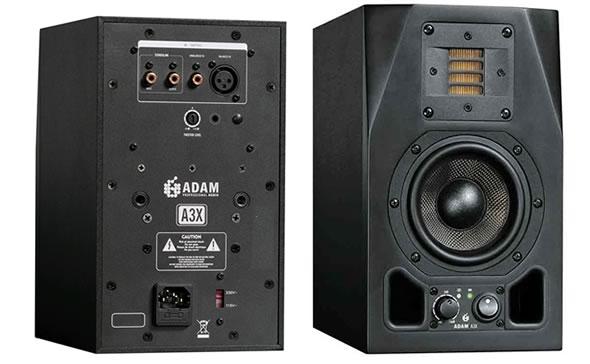 ADAM AUDIO アダムオーディオ A3X スタジオモニター アクティブモニタースピーカー DAW DTM 音響機器 舞台照明