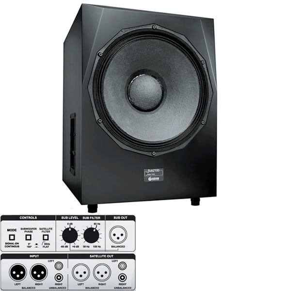 ADAM AUDIO アダムオーディオ Sub2100 スタジオモニター アクティブサブウーファー レコーディング 音響機器 舞台照明