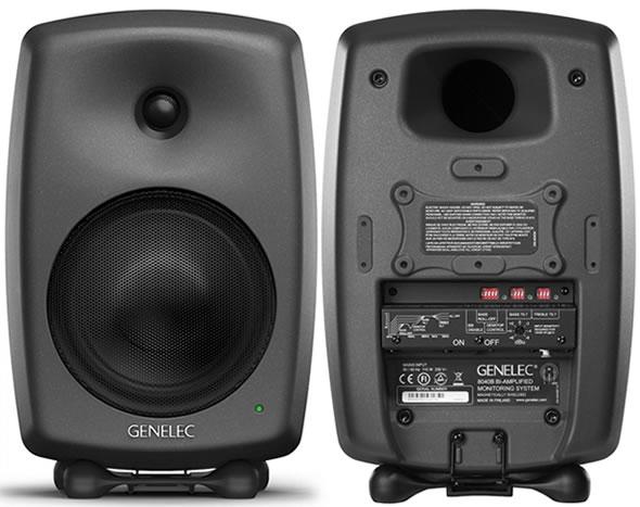 GENELEC 8040B マットブラック ホワイト スタジオモニター