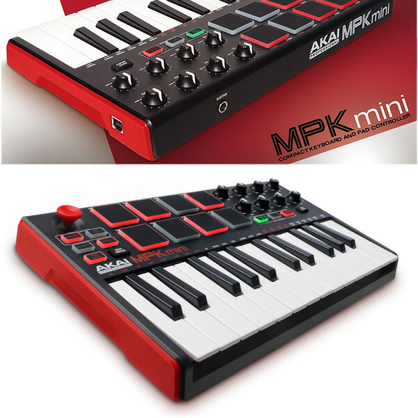 Akai(アカイ) / MPK mini MK2 【MPC Essentials付属】- ベロシティ対応 25鍵 MIDIキーボード・コントローラー
