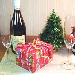 クリスマス用赤色包装紙